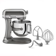 Kitchenaid 7 qt Stand Mixer In Metallic Silver  //  I have this. It's fantastic.