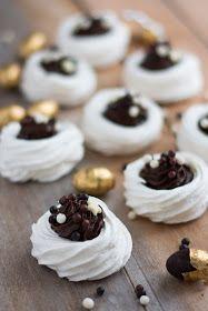 Mini pavlova au chocolat