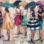 """""""PARTY SKIRTS"""" OIL ON CANVAS Love this art!"""