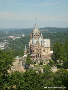 O Drachenburg, o Castelo do Dragão, no vale do Rio Reno