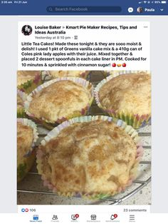 Mini Pie Recipes, Waffle Maker Recipes, Tart Recipes, Sweet Recipes, No Bake Desserts, Keto Desserts, Apple Tea Cake, Vanilla Cake Mixes, Food Intolerance