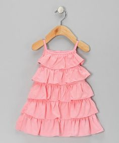 Take a look at this Lotus Tiered Ruffle Dress - Infant, Toddler & Girls by KicKee Pants on #zulily today!