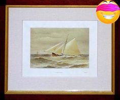 "Henry Shields and James Meikle Illustrated plate from Famous #Clyde Yachts 1880-87 Glasgow and #London: Oatts & Runciman, 1888 Chromolithograph 19 ¼"" x 22 ¼"" fram..."