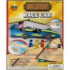 Build Your Own Wood Race Car, Paint It and Play with It. by Creative Kids Far East Ltd.,   #Colorforms #Creativity