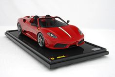 Ferrari F430 Scuderia Spider 16M in Rosso Corsa Red Model Car in 1:8 Scale by Amalgam