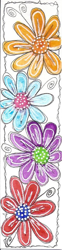 doodled flower border  #clipart #patterns