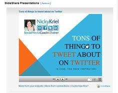 LinkedIn Tip: Add Slideshare to your LinkedIn Profile in 3 easy steps http://www.nickykriel.com/blog/business-skills/linkedin-how-to-add-slideshare-to-your-linkedin-profile
