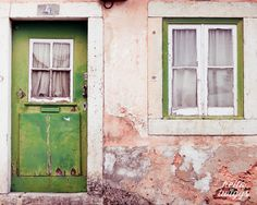 Door Photo Portugal PhotosTravel Photos Lisbon Wall by hellotwiggs, $30.00