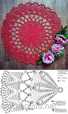 Holiday Crochet, Crochet Home, Crochet Gifts, Irish Crochet, Easy Crochet, Free Crochet Doily Patterns, Crochet Doily Diagram, Crochet Mandala, Crochet Motif