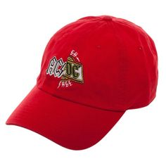 13538944f9c91 AC DC Split Logo Dad Hat Baseball Cap