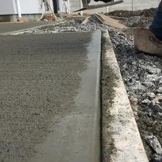 Concrete Pathway, Concrete Backyard, Concrete Block Walls, Concrete Patio Designs, Concrete Driveways, Backyard Patio Designs, Backyard Projects, Outdoor Projects, Backyard Landscaping