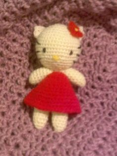 virkattu crochet Hello kitty