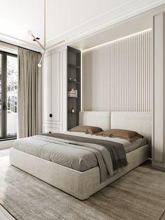 Park Avenue on Behance Room Design Bedroom, Bedroom Furniture Design, Home Room Design, Home Bedroom, Bedroom Wall, Bedroom Ideas, Bedroom Artwork, Bedroom Ceiling, Bedroom Styles