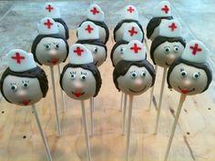 Chupa-chups-cake de enfermeras