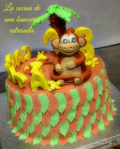 Monkey cakes Tarta mono