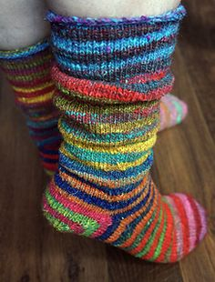 Vanilla socks.  Toe up and afterthought heel free pattern