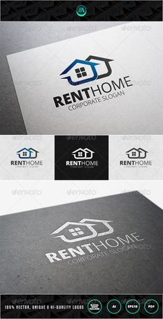 Rent Home Logo Design Template Vector #logotype Download it here:  http://graphicriver.net/item/rent-home-logo-template/7200491?s_rank=660?ref=nexion