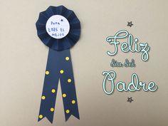 Tutorial medalla para el día del padre - http://www.manualidadeson.com/medalla-para-papa.html