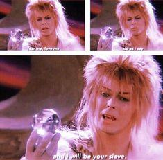 1986 - David Bowie as Jareth, The Goblin King in Labyrinth. Labyrinth 1986, Labyrinth Movie, Jareth Labyrinth, David Bowie Labyrinth Quotes, David Bowie Quotes, Labrynth, The Dark Crystal, Fandoms, Jennifer Connelly