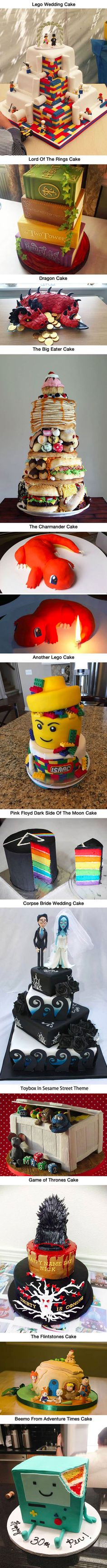 Cakes too cool to eat. Was the B-Mo cake actually Pendleton Ward's bday cake is he only in his 30s?
