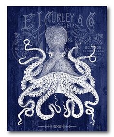 Loving this Octopus Prohibition Poster Wrapped Canvas on #zulily! #zulilyfinds