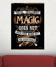 Take a look at this Harry Potter 'Wands Out' MightyPrint™ Wall Art today!