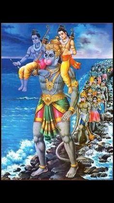 Hanuman with Ram Laxman Hanuman Murti, Hanuman Chalisa, Krishna Krishna, Lord Rama Images, Lord Hanuman Wallpapers, Hanuman Images, Shiva Wallpaper, Shiva Shakti, Durga Goddess