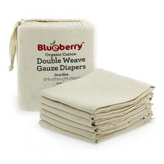 LC Pals - Blueberry Organic Gauze Flat Diapers, $29.99 (http://www.lcpals.com/blueberry-organic-gauze-flat-diapers/)