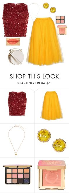 """""""We found wonderland, you and I got lost in it"""" by what-is-your-act ❤ liked on Polyvore featuring Lace & Beads, N°21 and Too Faced Cosmetics"""