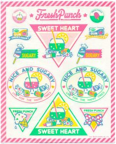 Sanrio Vintage Stickers Fresh Punch Sweets Candy L@@K hello kitty ($28.00) - Svpply