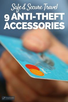 9 Anti Theft Accessories for Safe and Secure Travel | In today's world of cyber technology and highly trained criminals, it's easy to have your valuables compromised, especially when travelling. That's why it's important to think about anti theft gear when planning your trip abroad. | The Planet D: Canada's Adventure Travel Couple: