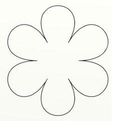 Resultado De Imagem Para Molde De Flor De 6 Petalas Kaliplar