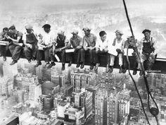 bouwvakkers op balk - Google zoeken