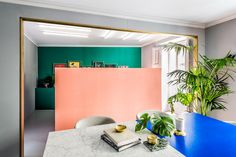 A color-blocked office interior,an automated ceramics extruder, and a lightning fast round-up of the art fairs last week in New York.