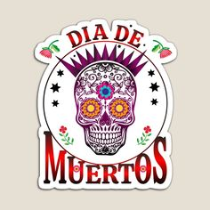 This design is also available on many other items. Come celebrate the day of the dead with us, celebremos el dia de muertos Canvas Prints, Art Prints, Anubis, Day Of The Dead, Magnets, Stickers, Artist, Design, One Day