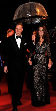 Kate + gorgeous dress. And that ring!!!