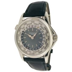 Patek Philippe Platinum World Time Wristwatch Ref 5110P | From a unique collection of vintage wrist watches at https://www.1stdibs.com/jewelry/watches/wrist-watches/