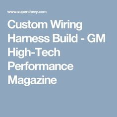 Southern Performance Systems Gen IV Wire Harness Kits