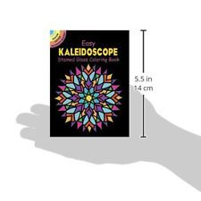 Kaleidoscope Stained Glass Adult Coloring Book Easy Relaxing Creative Paperback