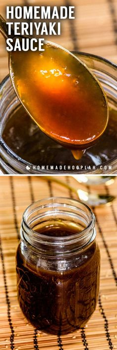 Homemade Teriyaki Sauce! Whether you love Asian-style dishes or just need a tasty sauce for dipping, this homemade teriyaki sauce is fast to make and easy to adjust to your tastes. | HomemadeHooplah.com