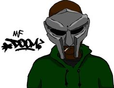 MF Doom (Illustration), An illustration of American rapper MF Doom (rela name Daniel Dumile).