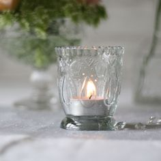Footed Pressed Glass Tea Light Holder – The Wedding of My Dreams Glass Tea Light Holders, Tea Light Candles, Tea Lights, Vase Centerpieces, Bud Vases, Guest Book Table, Candle Holders Wedding, Crystal Vase, Wedding Table Decorations