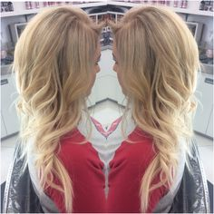 Blonde Balayage with ash blonde roots