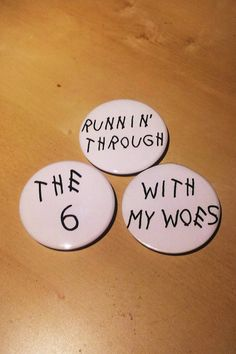 Runnin through the six with my woes. Drake inspired by SaavyInc Buttons For Sale, Make And Sell, How To Make, Drake, Inspired, Handmade, Stuff To Buy, Inspiration, Hand Made