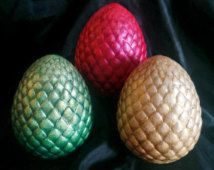 Hand Painted Game of Thrones Dragon Eggs (2 sizes to choose from)