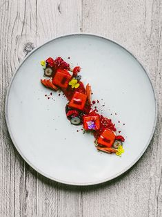 Yogurt, panna cotta, and red fruits by chefs Paulo Airaudo and Francesco Gasbarro of La Bottega. © Alex Teuscher - See more at: http://theartofplating.com/editorial/chefs-paulo-francesco-of-la-bottega-on-quality-and-simplicity/#sthash.Nx2659k7.dpuf