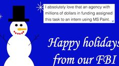 The FBI Made A Hilariously Bad Holiday Greetings Card And They're Getting Roasted