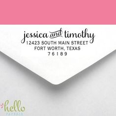 Custom Self Inking Personalized Return Address Stamp Wedding Save The Date Anniversary 29 00