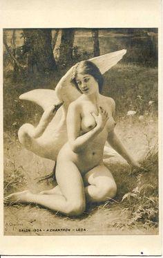 Leda  - Alexandre Jacques CHANTRON (1842 - 1918)
