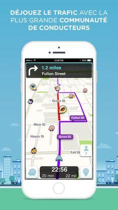 Waze GPS social, cartes et trafic par Waze Inc.